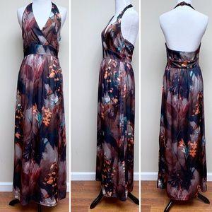 🔴3/$15 H&M Floral Maxi Halter Dress